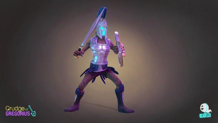 Grudge of Gregorius: Undead Greek Soldier 3D Model