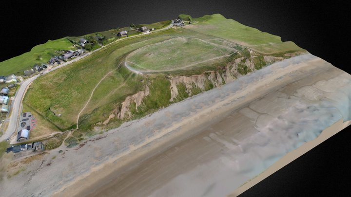 Caer Arfordirol Dinas Dinlle - Mehefin 2018 3D Model