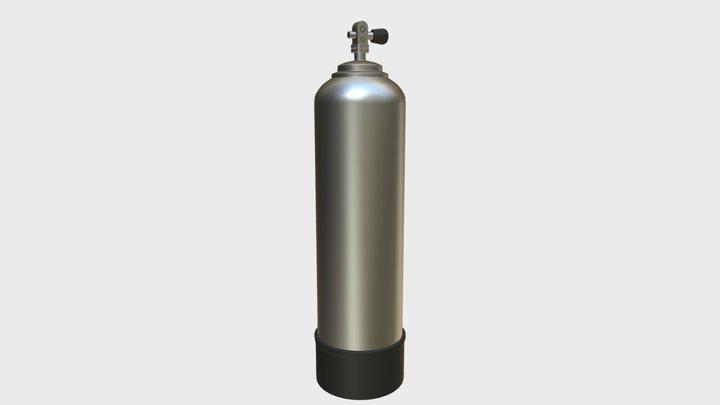 Scuba Diving Tank (gas cylinder) 3D Model