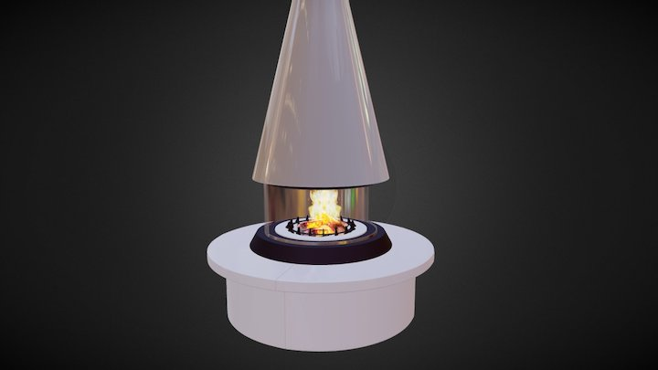 Central fireplace 3D Model