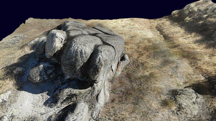 Outcrops near Bogus Basin Road, Boise Idaho 3D Model