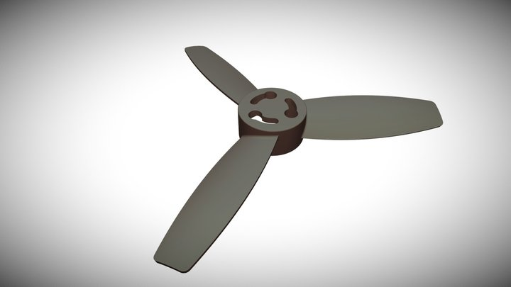 Propeller With Hole 3D Model