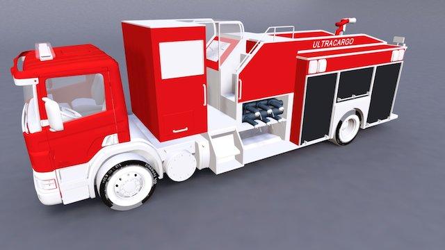 Caminhao_Bombeiro_UltraCargo 3D Model