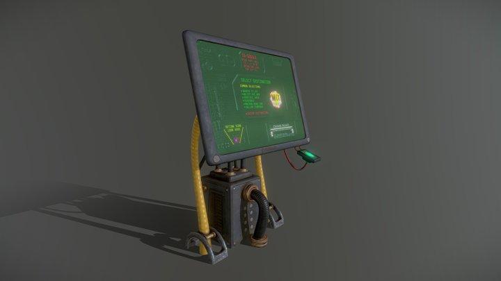sci-fi / cyberpunk Taxi order point terminal 3D Model