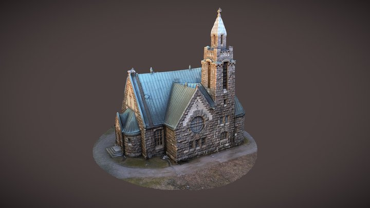 Stone church in Karuna, Finland 3D Model