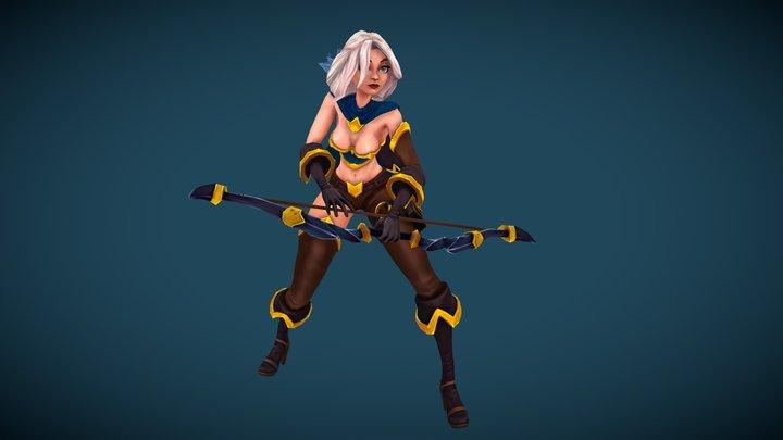 Cartoon Archer 3D Model