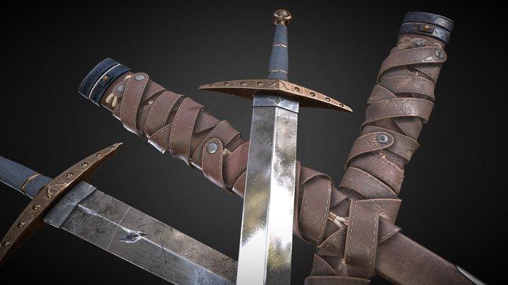 Hutch's Bastard Sword (Start&End Version) 3D Model