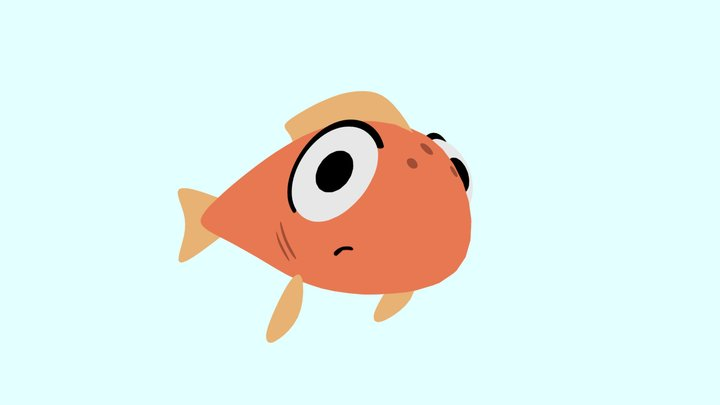 """""""Lucky"""" the Fish from """"A Helping Hand"""" 3D Model"""
