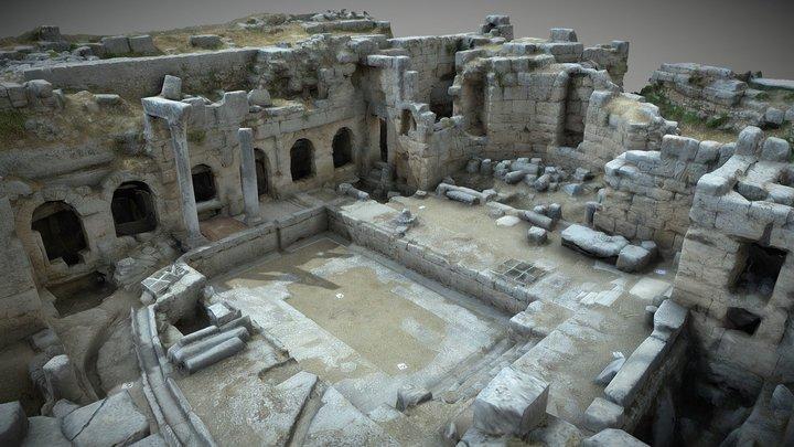 Ancient Corinth - Peirene Fountain 3D Model