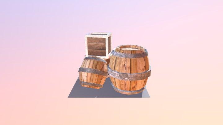 Crate and Barrel Photobash 3D Model