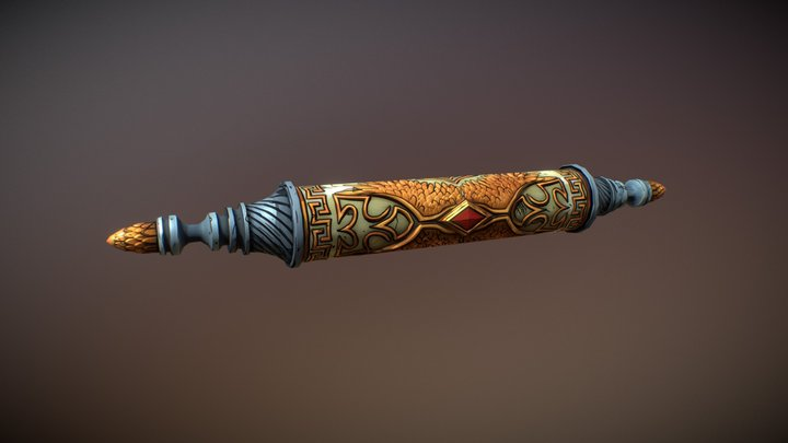Scroll of Bode 3D Model