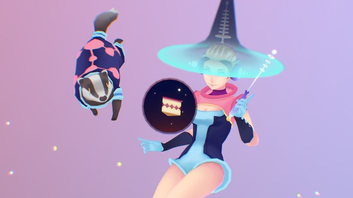 Space Witch 3D Model
