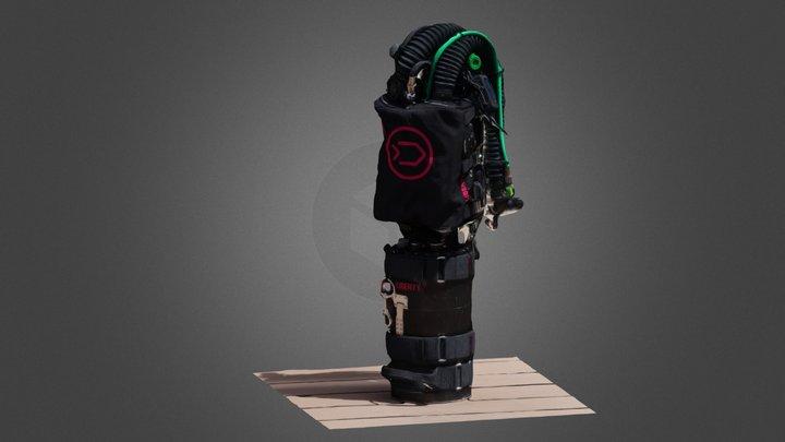 Divesoft Liberty Sidemount Rebeather 3D Model