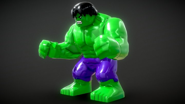 LEGO - Hulk 3D Model