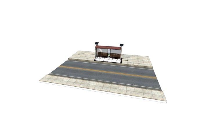 Abrigo De ônibus - Eu entre urbanos 3D Model