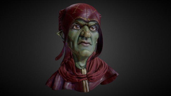 Goblin Portrait 3D Model