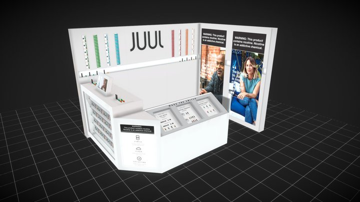 JUUL - 6 x 9 Modular Floor Display 3D Model