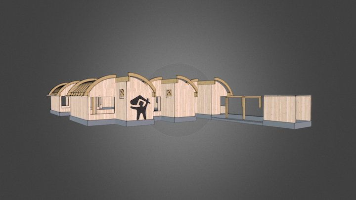 Day center for disabled people 3D Model
