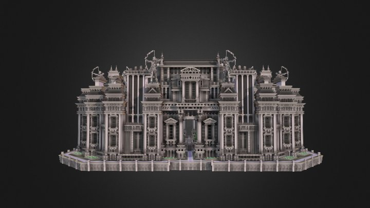 Castle faction spawn made for MineVille 3D Model