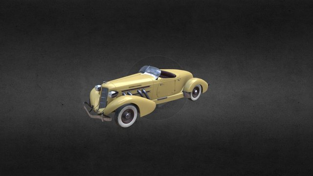 Auburn Speedster Supercharged 1935 3D Model