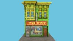 Bob's Burgers Restaurant 3D Model