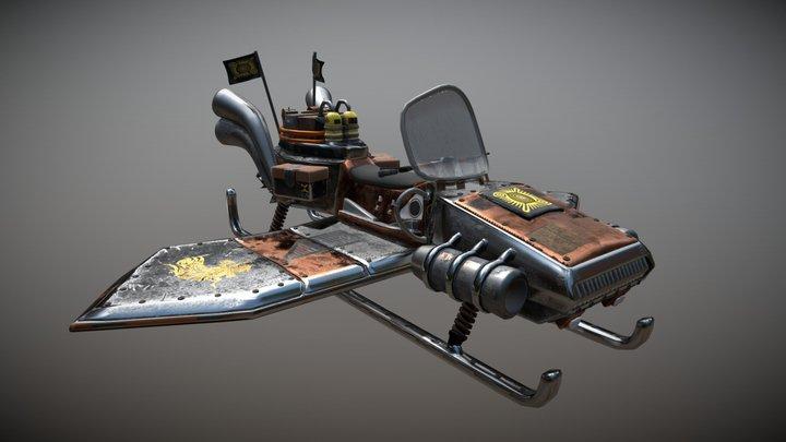 Steampunk Riderfly 3D Model