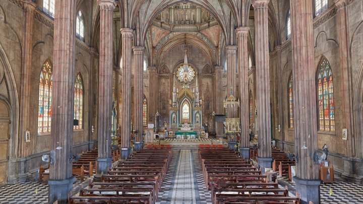 San Sebastian Basilica, Philippines 3D Model