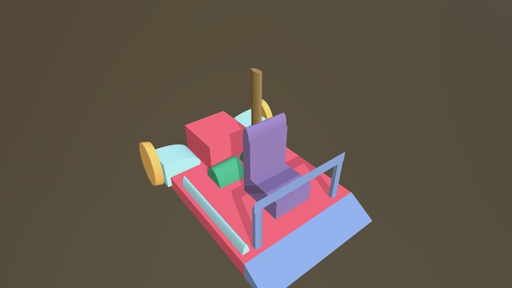 Go Kart Basic Design 3D model 3D Model