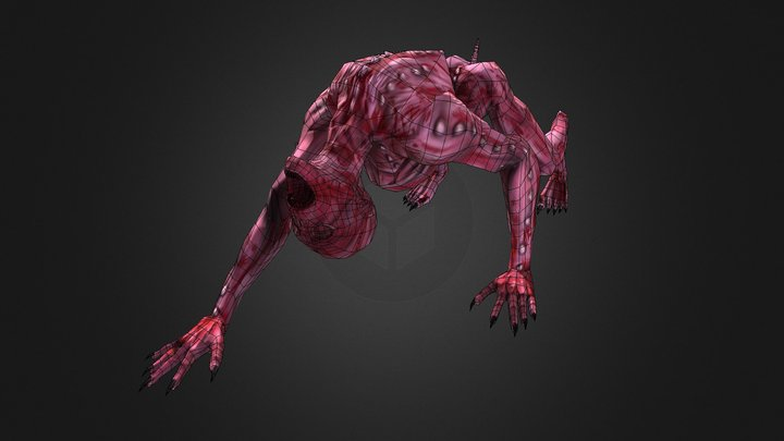 Tron Enemy Creature - Low Poly 3D Model