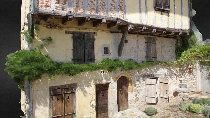Maisons médiévales, Bellac (87) 3D Model