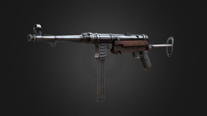 Mp40 (Machine-Pistol 40) 3D Model