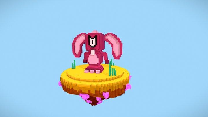 Bunny - Voxel Art 3D Model