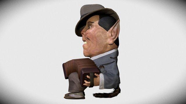 the accordeonist 3D Model