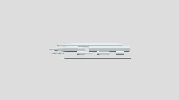 Ink Pen 3D Model