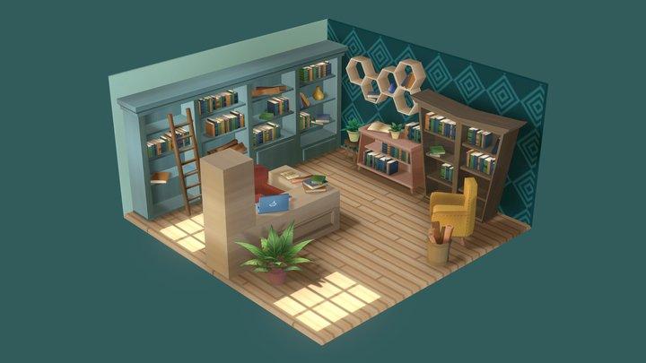 Little Library 3D Model