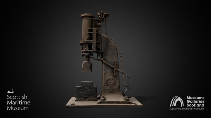RG Ross & Sons Steam Hammer 3D Model