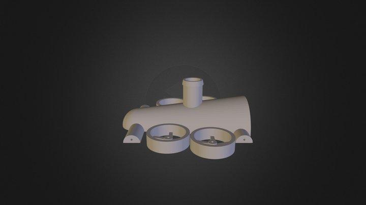 Reaktiivauto 3D Model