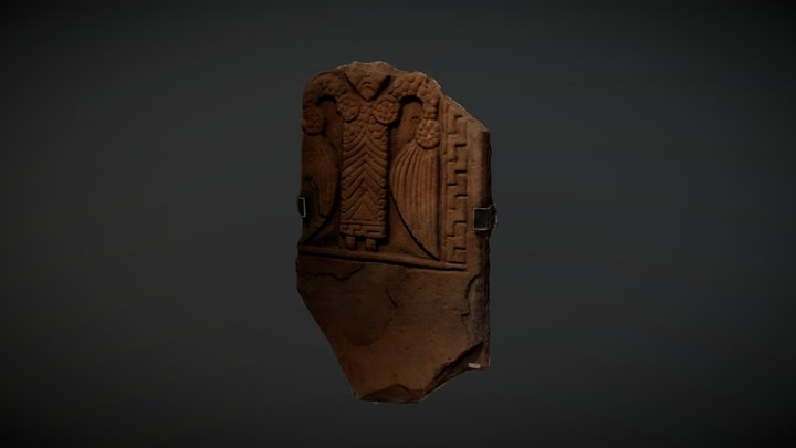 'Kirriemuir 4' Pictish sculptured stone 3D Model