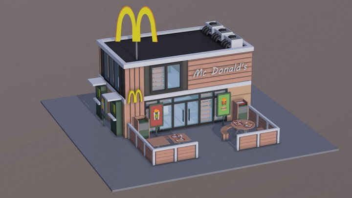 McDonald's 3D Model