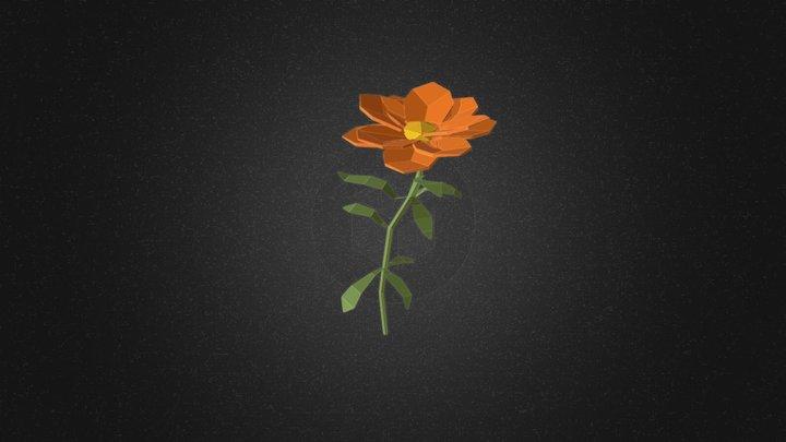 Calendula flower 3D Model