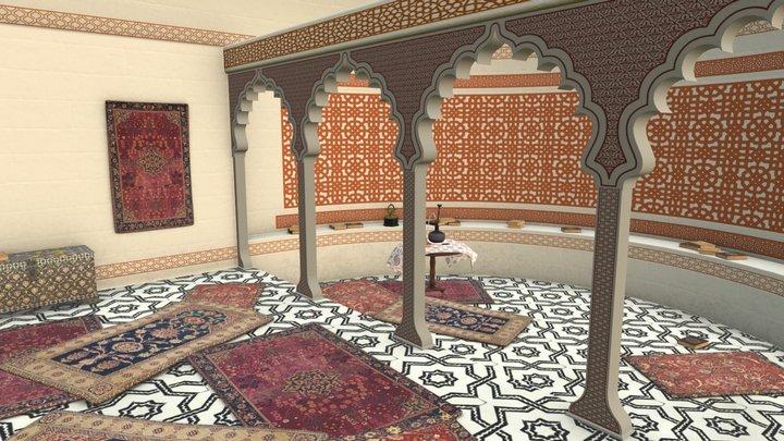 Mughal Interior 3D Model
