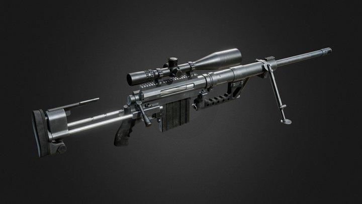 CTM200 Sniper Rifle 3D Model