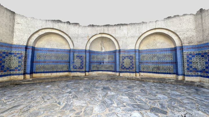Wrigley memorial courtyard-poly 3D Model