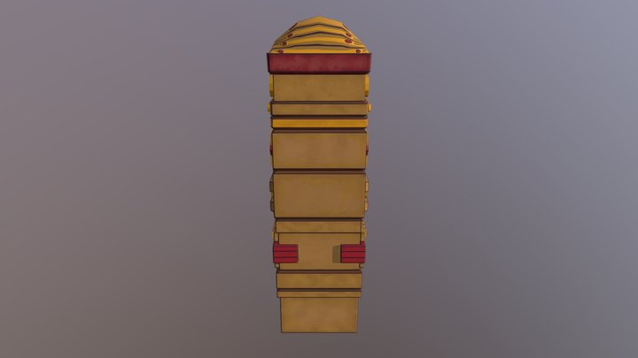 Mayan Pillar 3D Model