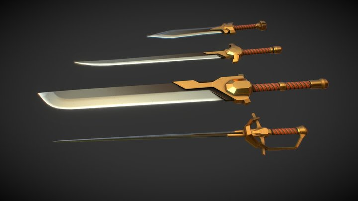 SciFantasy Sword Pack 3D Model