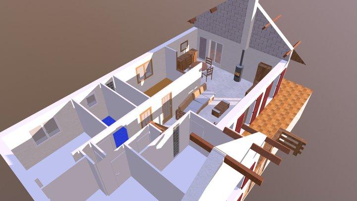 L&M maison intérieur 3D Model
