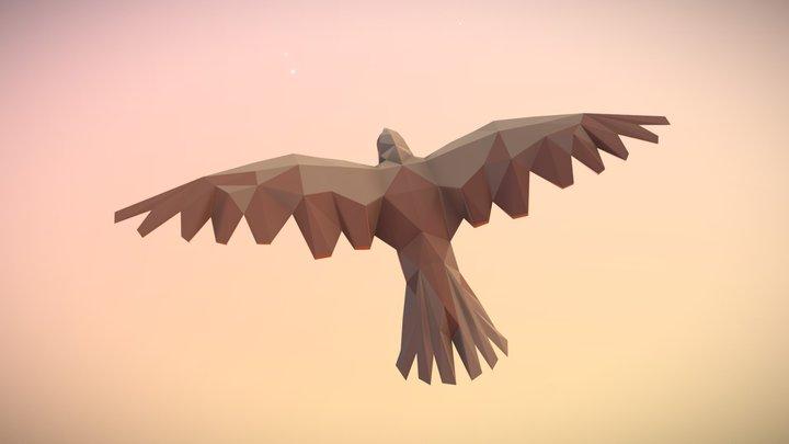 Low Poly Bird: Falcon 3D Model
