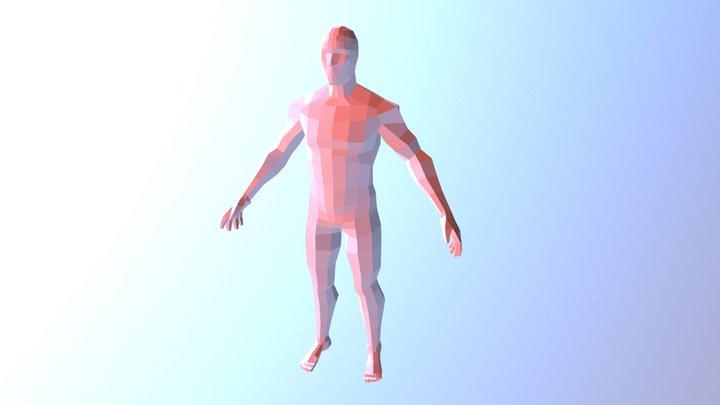 Low-Poly Male Body 3D Model