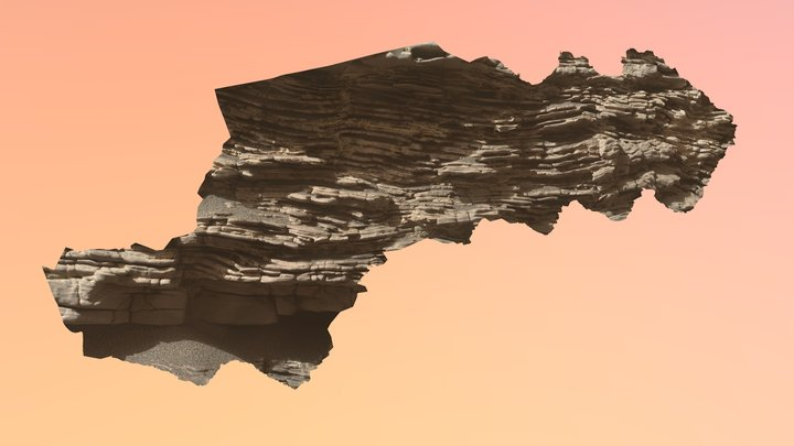 Strathdon laminated sandstone bed 3D Model