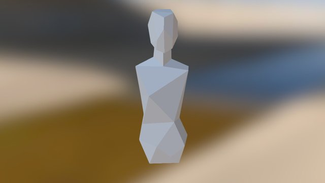 Low Poly Torso Revised 3D Model